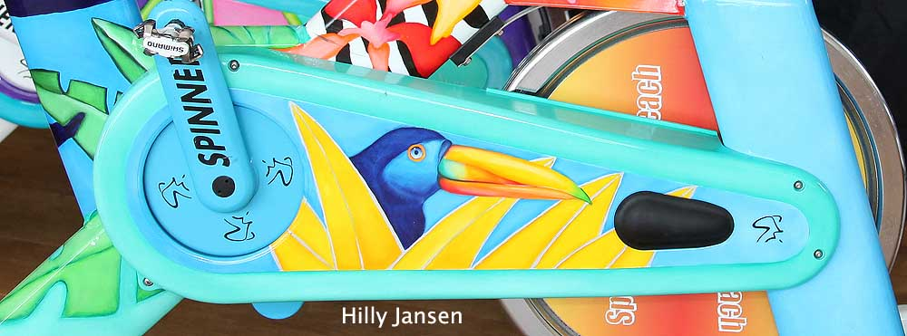 Beschilderd door Hilly Jansen